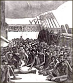 Slave traders packed ships with as many slaves as could be carried.