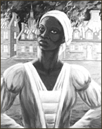 Marie-Joseph Angélique set fire to her owner's house in order to cover her escape [courtesy Black Studies Centre, Montreal).